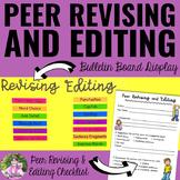 Peer Revising And Editing Checklist PLUS Bulletin Board Display