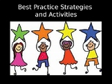 Best Practice Strategies and Activities PD PowerPoint