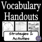 Vocabulary Graphic Organizers & Handouts
