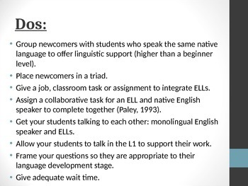 Best Practices for English Language Learners