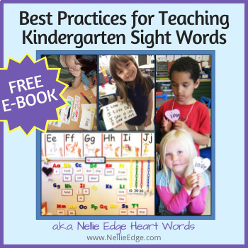 Best Practices for Teaching Kindergarten Sight Words: FREE E-Book