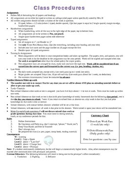 Best Practices in Classroom Management: Classroom Rules and Procedures Packet