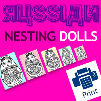 Best Printable Russian Nesting Doll (Matryoshka) VERSION 2