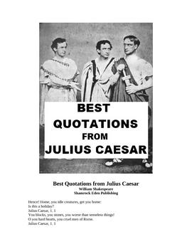 Best Quotations from Julius Caesar