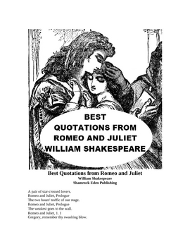 Best Quotations from Romeo and Juliet