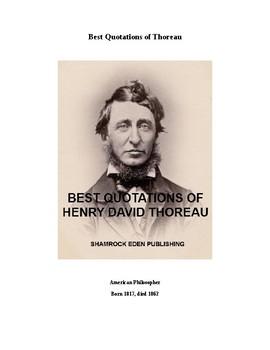 Best Quotations of Henry David Thoreau