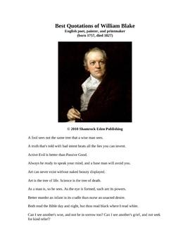 Best Quotations of William Blake