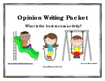 Best Recess Activity Opinion / Tell Why / Argumentative Wr