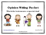 Best Resource or Special Class Opinion / Tell Why / Argumentative Writing Packet