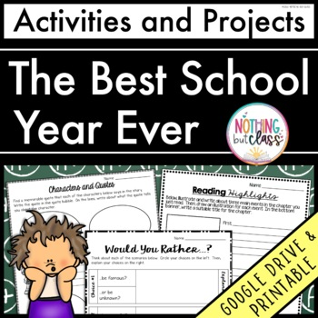 The Best School Year Ever: Reading Response Activities and