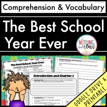 The Best School Year Ever: Comprehension and Vocabulary by