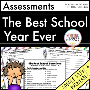 The Best School Year Ever: Tests, Quizzes, Assessments