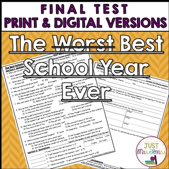 The Best School Year Ever Final Test