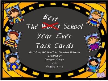 Best School Year Ever Novel Task Cards