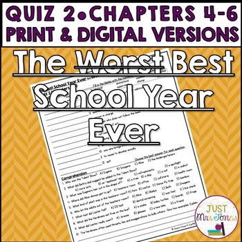 The Best School Year Ever Quiz 2 (Days 4-6)