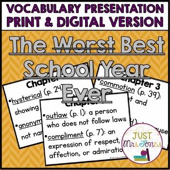 The Best School Year Ever Vocabulary Presentation