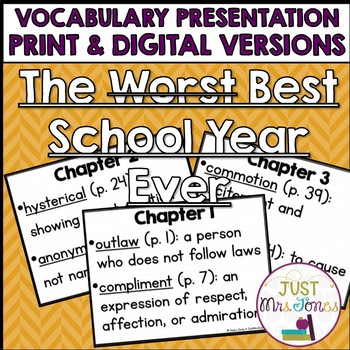 The Best School Year Ever Vocabulary Presentation