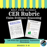 Best Science CER Rubric Ever! Editable page included!