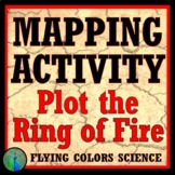 Plot the Ring of Fire Activity - Clear and Simple NGSS  MS-ESS2-1 MS-ESS3-2