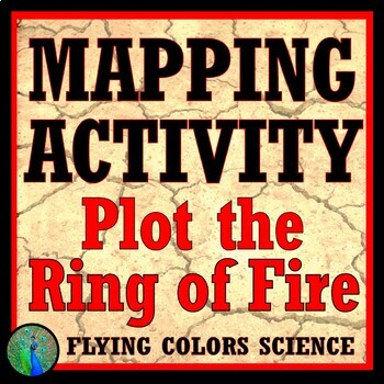 Plot the Ring of Fire Activity - NGSS Earth Science  MS-ESS2-1 MS-ESS3-2