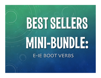 Best Sellers:  Spanish E-IE Boot Verbs
