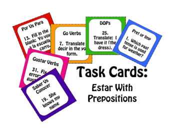 Best Sellers:  Spanish Estar With Prepositions
