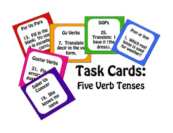 Best Sellers: Spanish Five Verb Tense Review