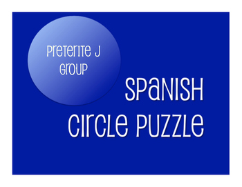 Best Sellers:  Spanish Preterite J Group