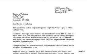 Best Sellers! Student Example Letter to the Publisher