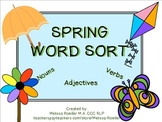 Best Selling Spring Noun, Verb, Adjective Sort