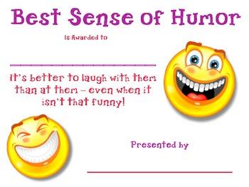 Best Sense of Humar Award