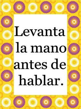 Best Ever Spanish Bulletin Board Bundle!/Expresiones, Cuerpo, Numeros, Reglas...