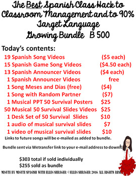 251 Best Spanish Class Hack: All Transition Videos_ Survival Vocabulary Products