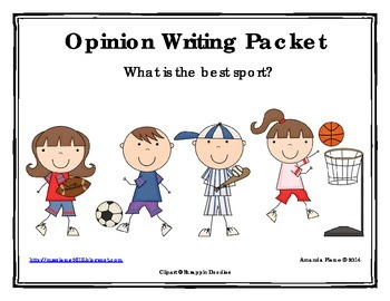 Best Sport Opinion / Tell Why / Argumentative Writing Packet