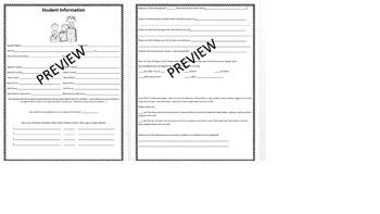 Best Student Information Sheet (Printable)