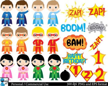 Best Superheros Digital Clip Art Graphics - 55 images cod150