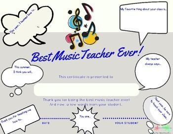 Best Teacher Ever Certificates