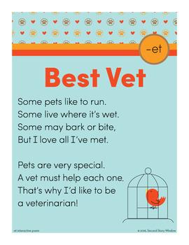 Best Vet - et Word Family Poem of the Week