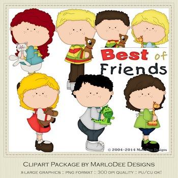Best of Friends Clip Art Graphics Set 1 by MarloDee Designs