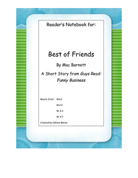 Best of Friends Reader's Notebook