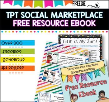 Best of Teachers Pay Teachers Marketplace EBook -200 FREEBIES