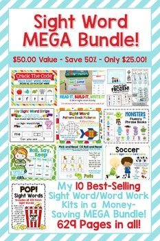 Best of the Best Sight Word MEGA Bundle! Top Selling Sight Word/Word Work Kits