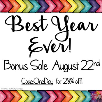 Best year ever! Sale Buttons