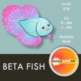 Beta Fish Clip Art
