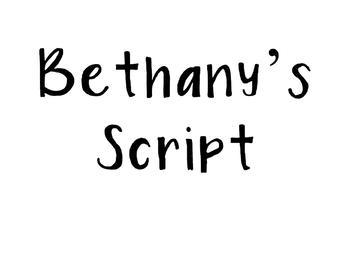 Bethany's Script Font