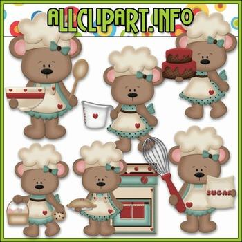 BUNDLED SET - Betsy Loves Baking Bears (Blue) Clip Art & Digital Stamp Bundle