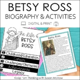 Betsy Ross Biography & Reading Response Activities | Digit