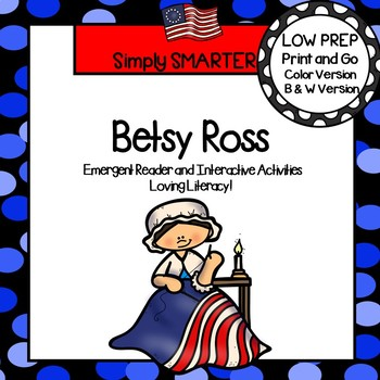 photograph regarding Betsy Ross Printable Pictures referred to as Betsy Ross Emergent Reader Guide AND Interactive Actions