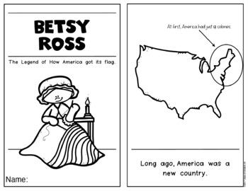 Betsy Ross {History Reader} for Kindergarten & First Grade Social Studies