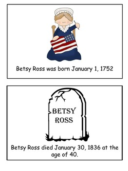 Betsy Ross Flip Book  for Emergent  Readers